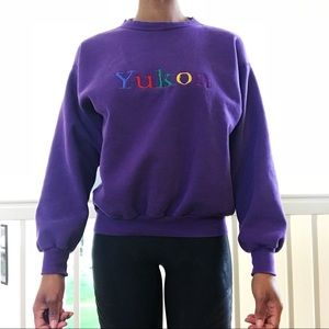 1990's Yukon Rainbow Souviner Crewneck Sweatshirt